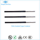 10mm2 de alta temperatura de calefacción de 250c grados de cable y cable de teflón