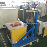 Horno fusorio de la inducción de frecuencia media 50kw para la fundición de plata 50kgs