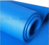 Couvre-tapis respectueux de l'environnement mou de yoga de sport de planche en caoutchouc normal de logo d'OEM