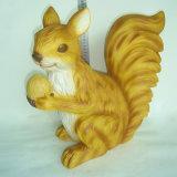 Estátua de resina encantadora Decoração de jardim Animais de interior