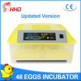 Incubator van het Gevogelte van het Tarief van Hhd de Hoge Uitbroedende Automatische voor 48 Eieren