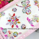 Стикер Scrapbooking стикеров Rhinestone мобильного телефона самоцвета DIY диаманта проблескивать стикера слипчивый кристаллический (стикер TP-цветка)