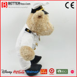 O urso macio encheu os brinquedos animais do urso da peluche da marinha do luxuoso para o presente dos miúdos