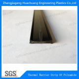 Suporte de nylon de barreira térmica de extrusão de poliamida em forma de T.