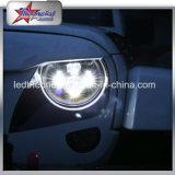 7 pulgadas de faros LED para Jeep Wrangler motocicleta Hummer 45W