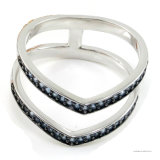 Silberner Ring 925 mit Edelstein (A2R067B)