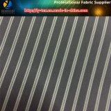 ポリエステル衣服またはスーツ(S21.22)のための黒い縞の袖のライニング
