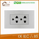 Type électronique plot de la Thaïlande d'Ethernet de mur électrique en céramique de 6 bornes