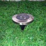 Roestvrij staal 2 het LEIDENE Zonne Ondergrondse Licht van de Lamp