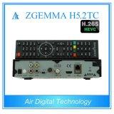 Récepteur satellite de pointe du système d'exploitation linux Enigma2 de Zgemma H5.2tc de doubles tuners du décodeur DVB-S2+2*DVB-T2/C avec Hevc/H. 265