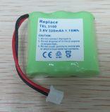 Batterie téléphone sans fil pour Loewe Alphatel 3100, Alphatel 3100de, Lt2130