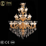 Dorati di lusso l'indicatore luminoso a cristallo del lampadario a bracci della pressofusione