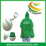Poncho Emergency de la lluvia en caso del almacenaje de la bola con Keychain