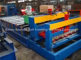 Telhadura vitrificada Kxd-1035 do metal de folha que dá forma à máquina