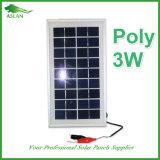 Painéis solares 3W 9V para luz LED