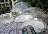 Promozione di campeggio libera gonfiabile esterna che fa pubblicità alla tenda
