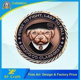 Fabrik-Preis-kundenspezifische Andenken-Metallmünze mit Anzeigetafel-Rand (XF-CO30)