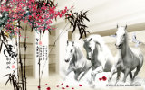Das Pferden-Tintenstrahl gedruckte Ölgemälde für Hauptdekoration