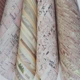 Cuir en faux bois PU en fer blanc pour plancher mural de bureau (HW-614)