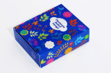 Коробка подарка цветастого печатание косметическая упаковывая бумажная с ясным окном PVC