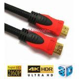 Cabo HDMI V1.4 de Alta Velocidade com Ethernet, 3D, 4k 60p
