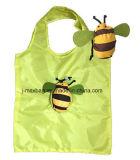 Bolso de compras plegable de los regalos con la bolsa 3D, estilo animal de la abeja, reutilizable, peso ligero, bolsos del ultramarinos y práctico, accesorios y decoración, promoción