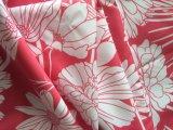 Tela impressa flor do poliéster para revestimentos das mulheres para baixo