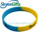 Wristband multicolore su ordinazione del silicone di turbinio & di segmento per la promozione