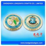 Pièce de monnaie faite sur commande en métal d'enjeu avec 4-6 couleurs