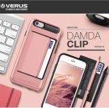 Гибридный случай крышки мобильного телефона PC TPU (красный) с владельца карточки для iPhone 7/7plus