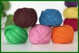 hilado teñido 3ply de la fibra del yute (verde)