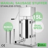 Stuffer manual vertical comercial da salsicha do enchimento do fabricante da carne 15L