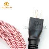 Conjunto de cuerda mencionado del enchufe de la materia textil de la UL
