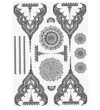 Etiqueta engomada temporal negra atractiva de moda del tatuaje del arte de la etiqueta engomada del tatuaje
