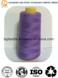 El 100% hizo girar la cuerda de rosca hecha girar poliester del hilo de coser del poliester para coser