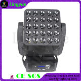 25X10W étape faisceau DMX LED Matrice Moving Head