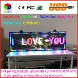 Do sinal interno da mensagem do diodo emissor de luz da cor cheia de P5 placa de indicador movente do desdobramento RGB para a propaganda da loja