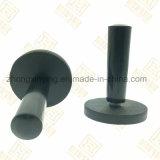 Mandrino magnetico di plastica del nero del foro M6/M8 con la maniglia, personalizzata