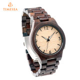 형식 Mens 여자의 자신의 상표 72189를 가진 대나무 목제 시계 석영 나무로 되는 시계