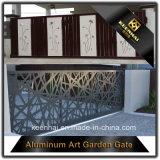Projeto de alumínio da porta da entrada principal do painel do corte do laser para a casa de campo
