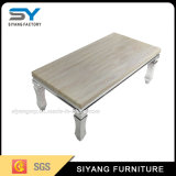 Живущий мрамор мебели комнаты и журнальный стол металла