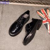警官ミラーの革靴
