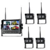 Sistema de cámara de seguridad inalámbrica de 7 pulgadas 4 canales con tarjeta SD para grabación