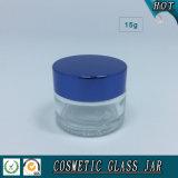 choc en verre transparent des produits de beauté 15ml