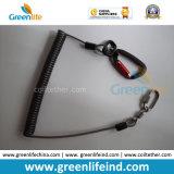 La laisse de sûreté de fil de câble de l'outil extensible vert transparent intense de ressort