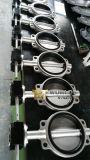 Zwischenlage-Oblate-Typ Drosselventil des Handrad-Edelstahl-PTFE