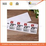 Etiqueta impressa da impressão da etiqueta decalque transparente autoadesivo de papel para o Tag