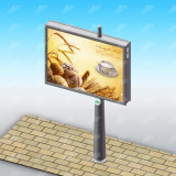 Strada principale che fa pubblicità al tabellone per le affissioni di Digitahi personalizzato tabellone per le affissioni Backlit LED