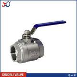 válvula de esfera rosqueada 2PC do aço inoxidável com certificado do Ce