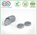 円形シリンダーニッケルメッキの磁石